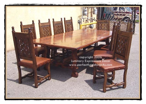 Beau Spanish Colonial Dining Tables