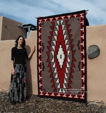 Hand Tufted Rich Thick Pile Wool Navajo Inspired Rugs